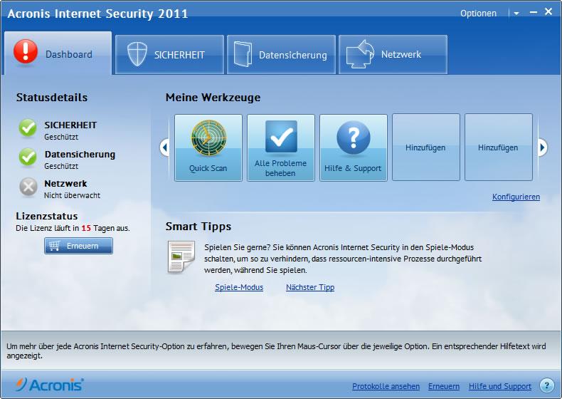 Новые возможности BitDefender Antivirus Pro 2011  * Оперативное